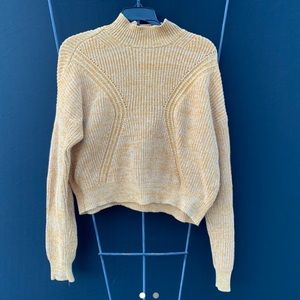 Kendall & Kylie Mustard Turtle Neck Sweater